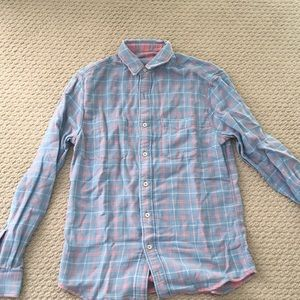 Faherty reversible plaid button up shirt NWT